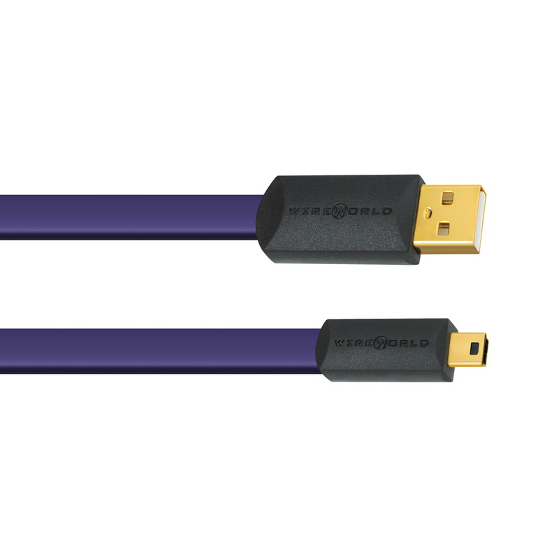 Wireworld Ultraviolet 7 USB 2.0 A to Mini B Flat Cable 1.0m