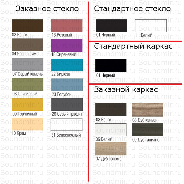 MD Color 650 – варианты отделки