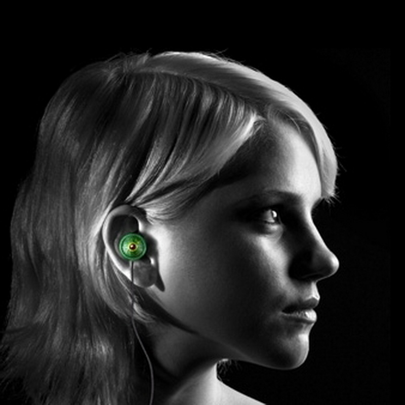 Quarkie IN EAR CHAMELEON EYE GREEN