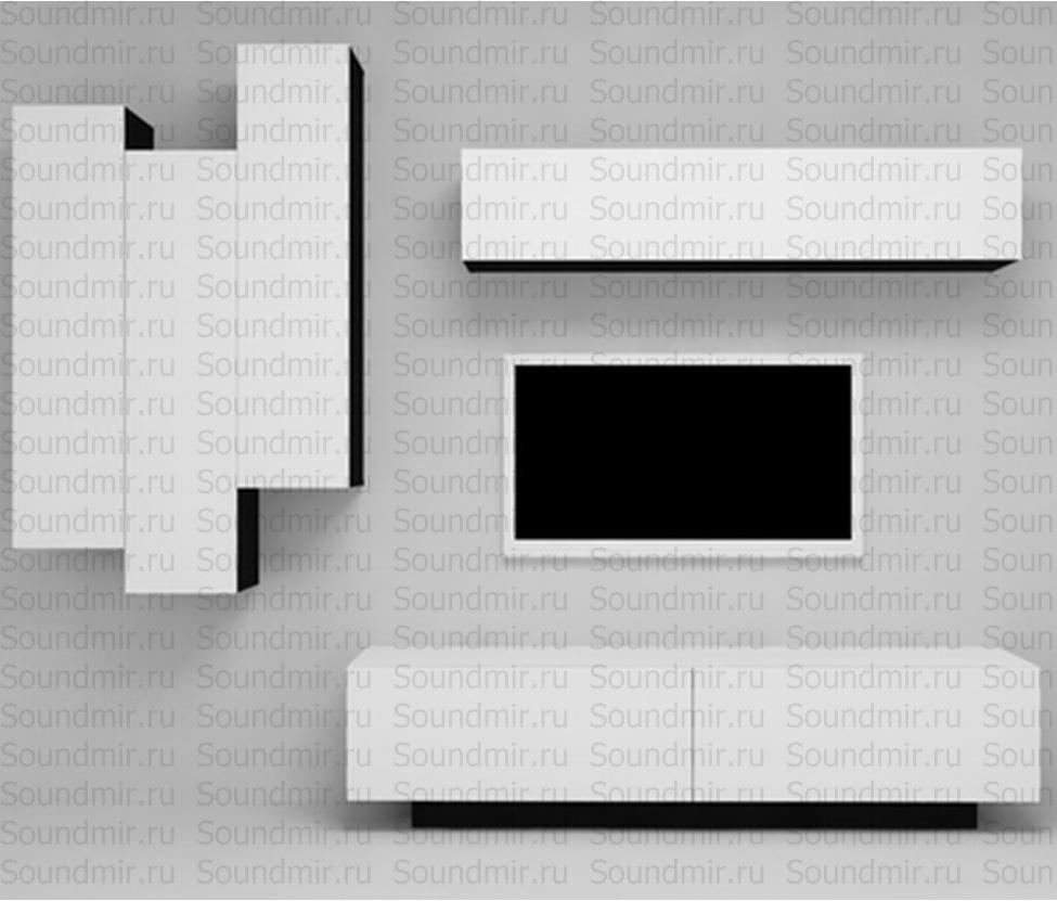 Стенка MD Color композиция №2 - белый глянец