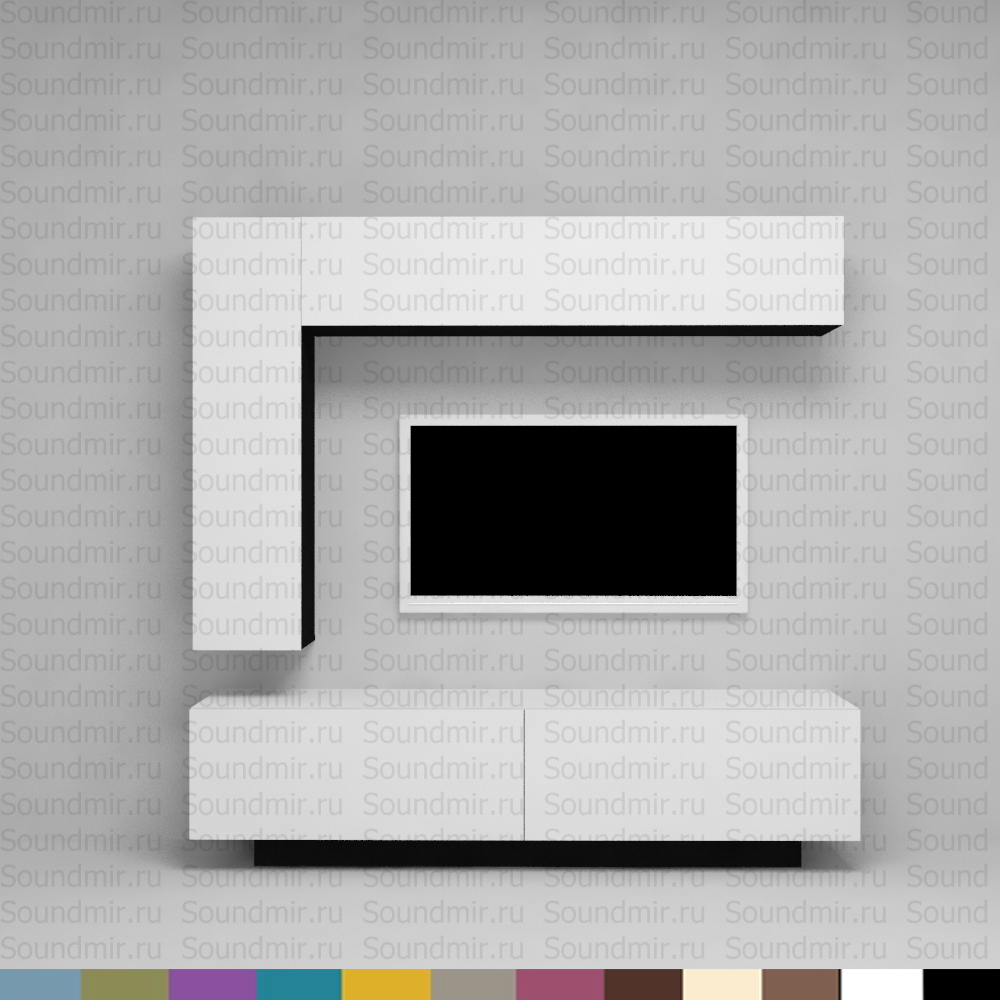 Стенка MD Color композиция №4 - белый глянец