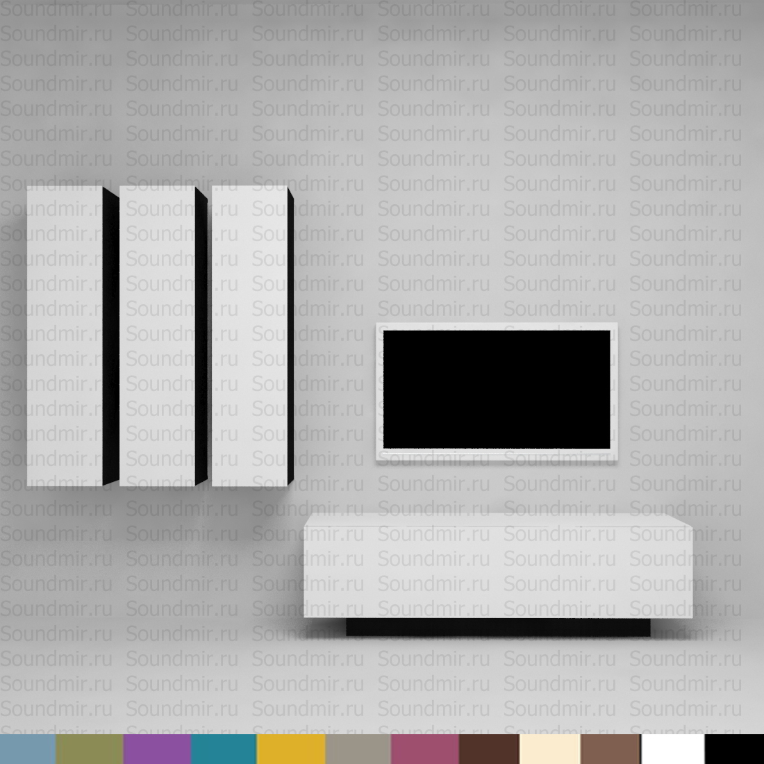 Стенка MD Color композиция №6 - белый глянец