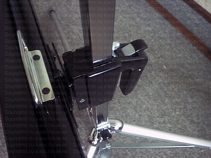 проекционный экран на штативе - регулятор высоты вид сверху