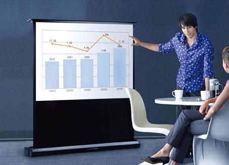 переносной экран для презентаций - Scorpius в офисе
