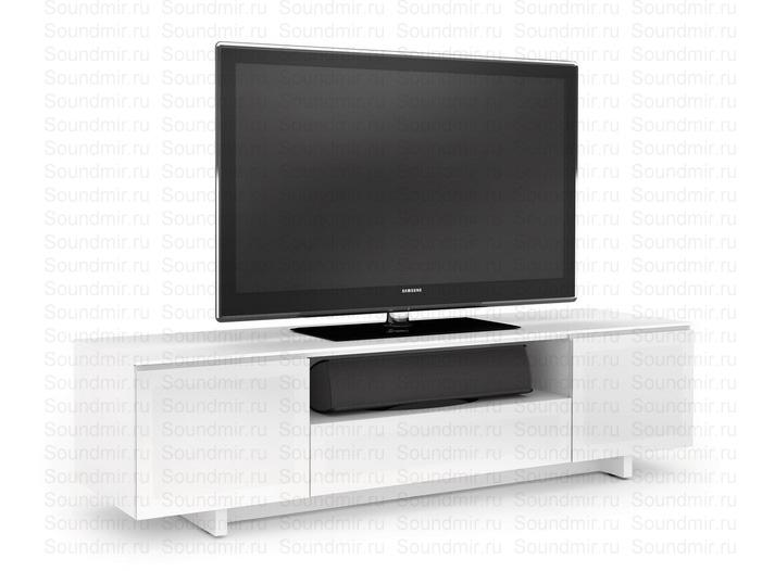 Белая глянцевая тумба под телевизор фото